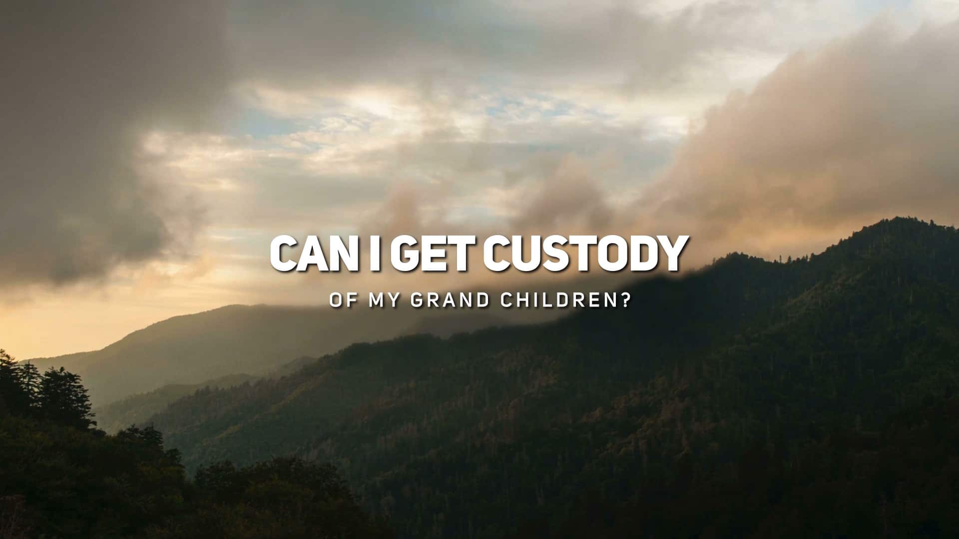 Can I Get Custody of My Grand Children