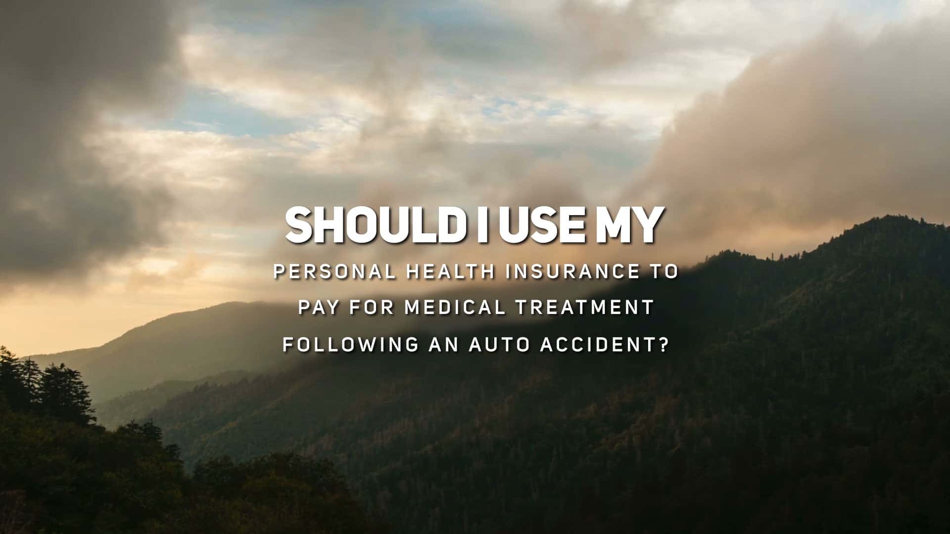 Should I Use My Personal Health Insurance to Pay for Medical Treatment Following an Auto Accident